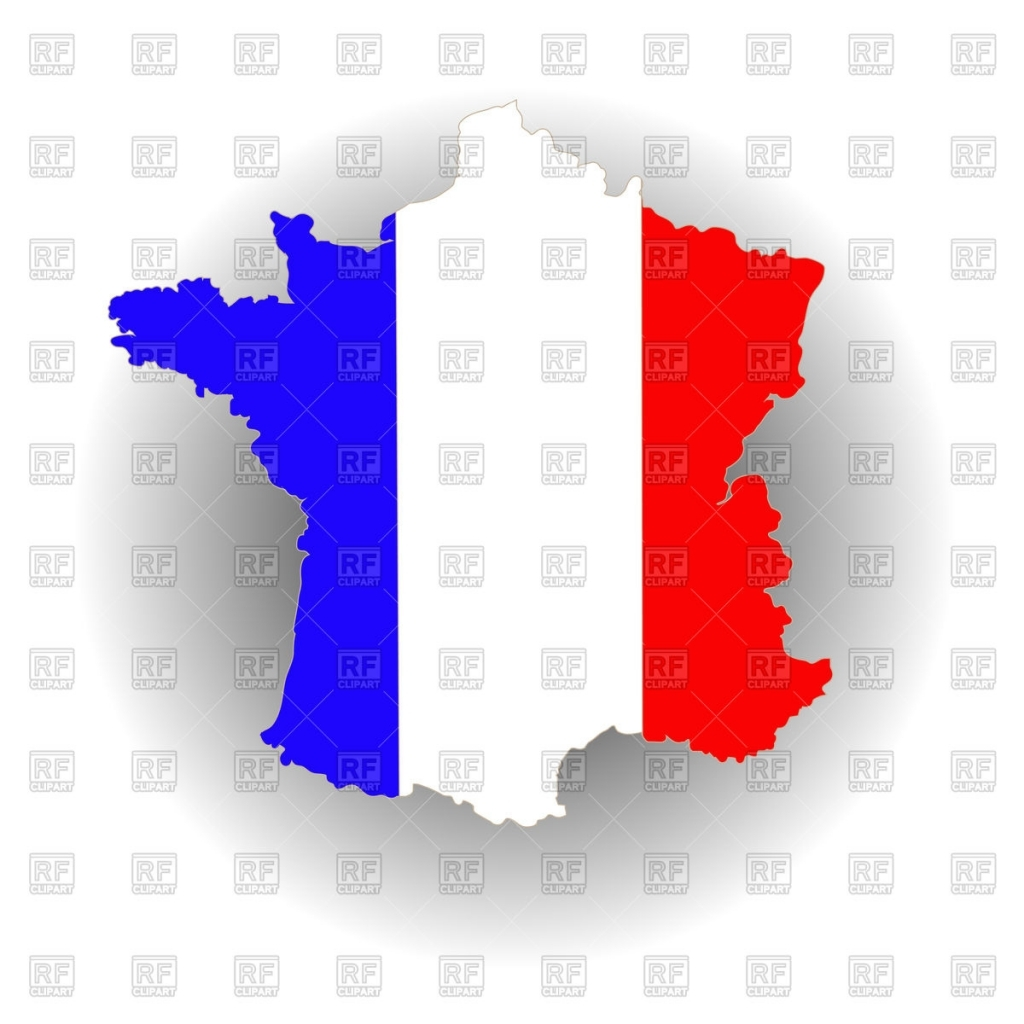 1024x1024 Map Of France In National Flag Colors Royalty Free Vector Clip Art