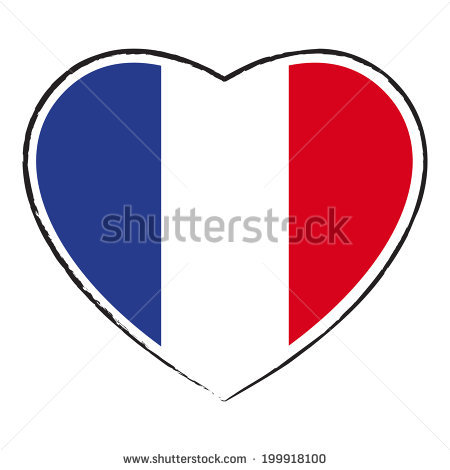 450x470 Clipart French Flag Heart Shaped