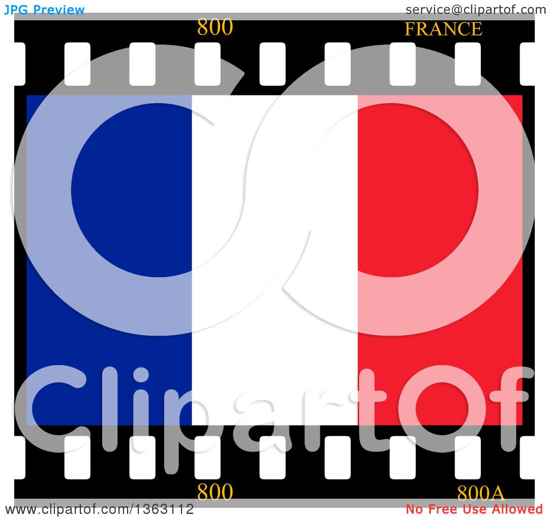 1080x1024 Clipart Of A French Flag Film Frame