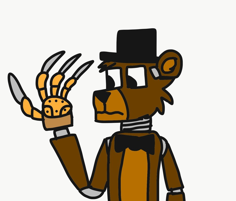 968x826 Freddy Fazbear Wears Krueger's Glove By Reaper2545