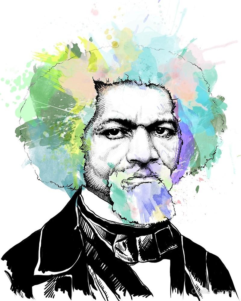 800x1000 Frederick Douglass Portrait Art Print By Otelia Carmen Redbubble