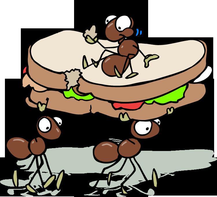 750x681 Cartoon Ants Picnic