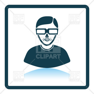 400x400 Inspirational Icon Clipart Icon Of Man With 3d Glasses Royalty