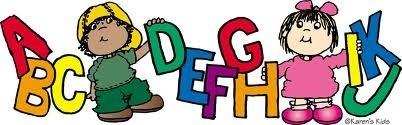 402x125 Alphabet Kids Clip Art