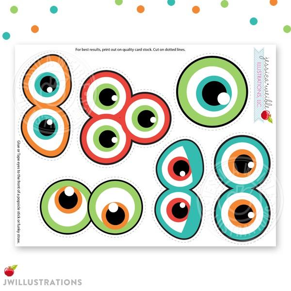 600x600 Monster Eyes Clipart
