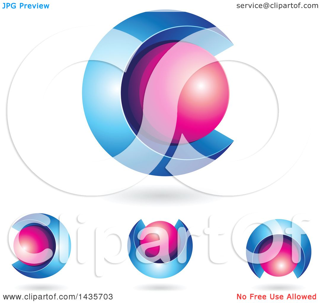 1080x1024 Clipart Of 3d Abstract Sphere Letter C Designs With Shadows
