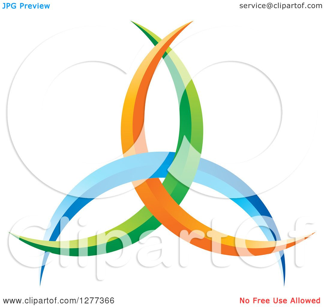 1080x1024 Clipart Of A Blue Green And Orange Abstract Design