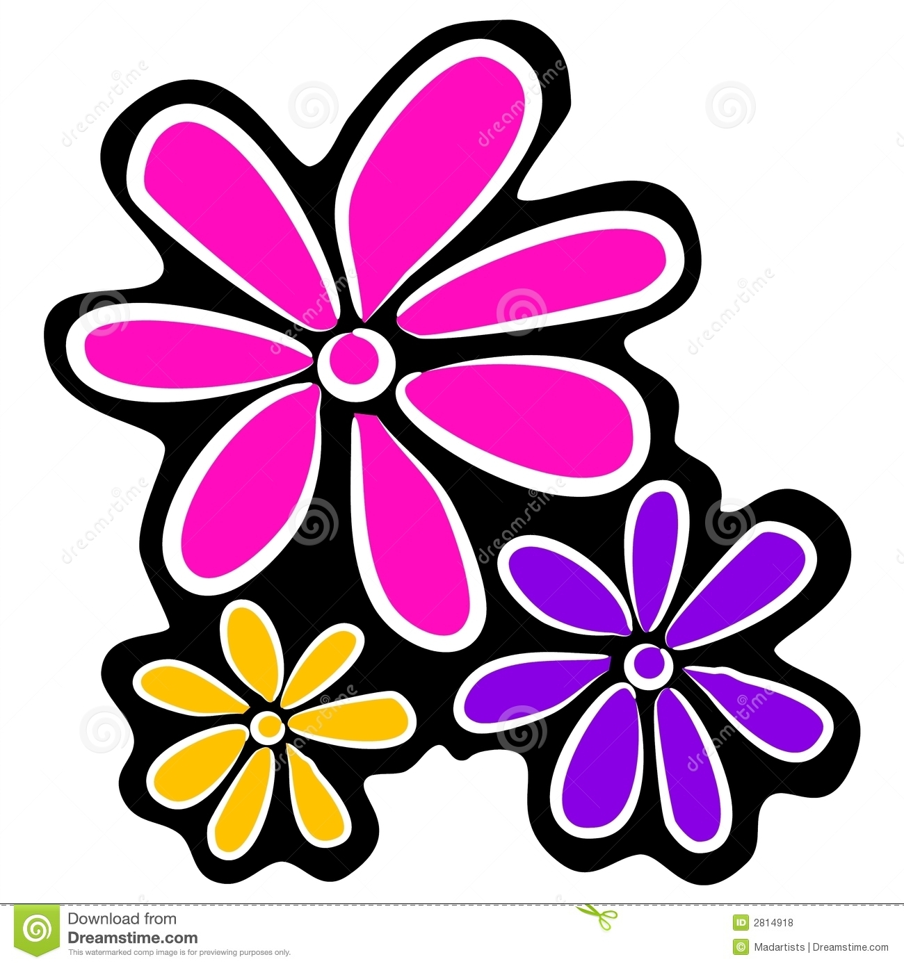 1300x1390 Flower Abstract Clipart