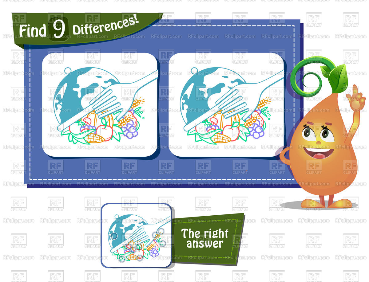 1200x918 Game For Children And Adults. World Food Day. Royalty Free Vector