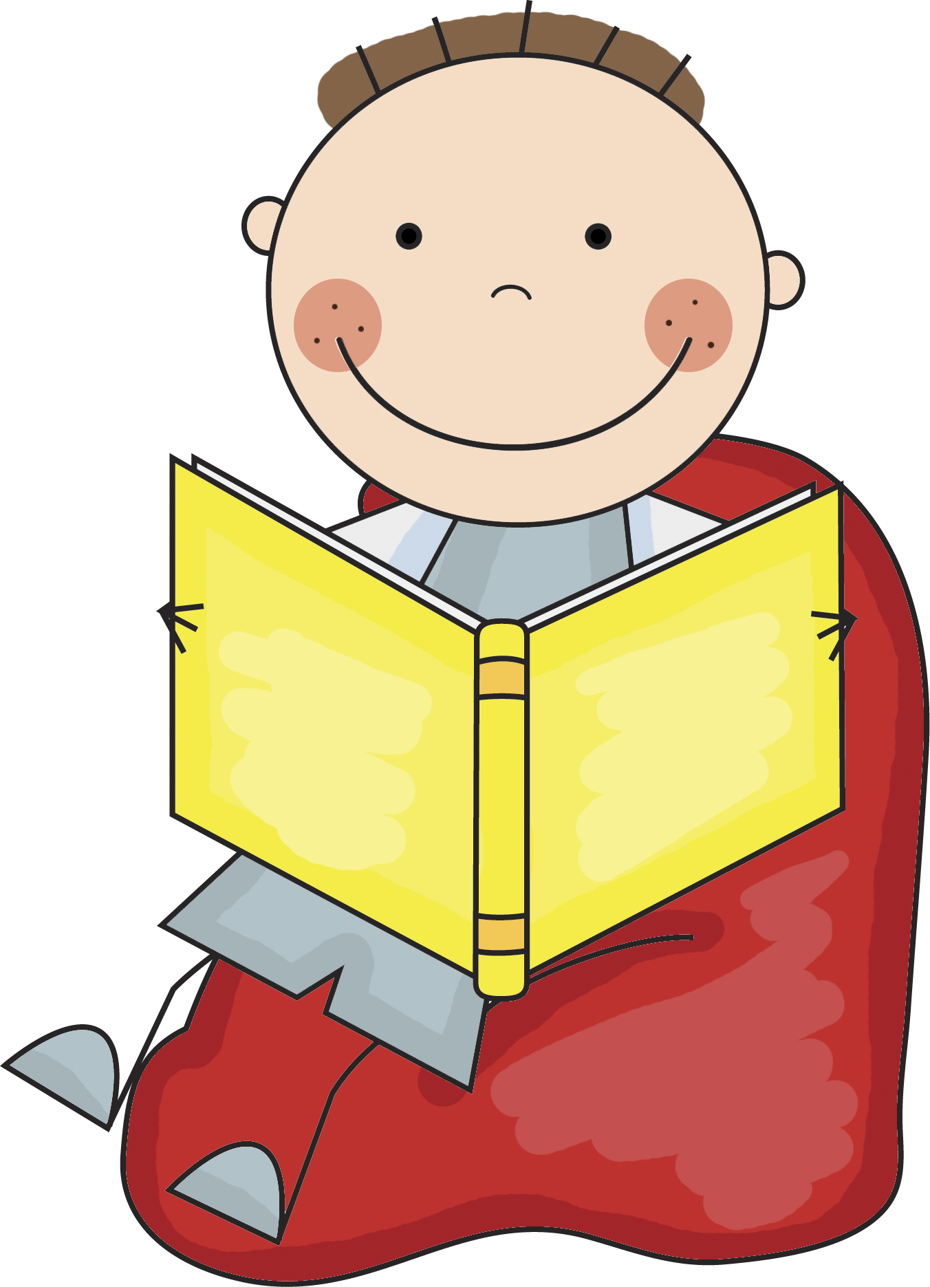 1352x1871 Library Clipart Silent Reading 3668000