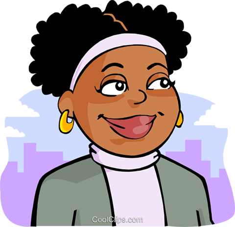 480x463 African American Woman Royalty Free Vector Clip Art Illustration