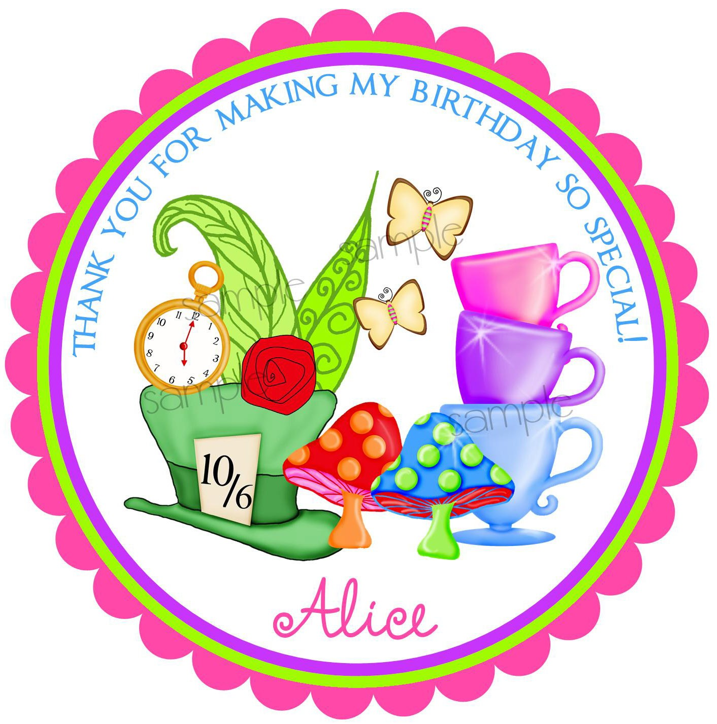 1412x1427 Free Alice In Wonderland Tea Party Vector Clipart
