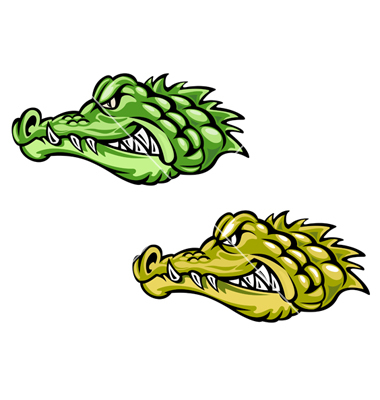 380x400 Alligator Head Clip Art