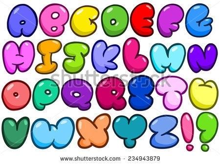 450x337 Clip Art Bubble Letters