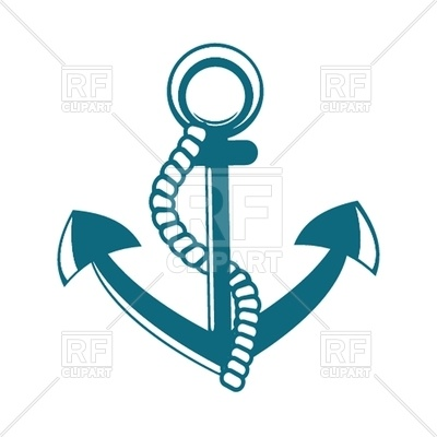 400x400 Anchor With Rope Royalty Free Vector Clip Art Image
