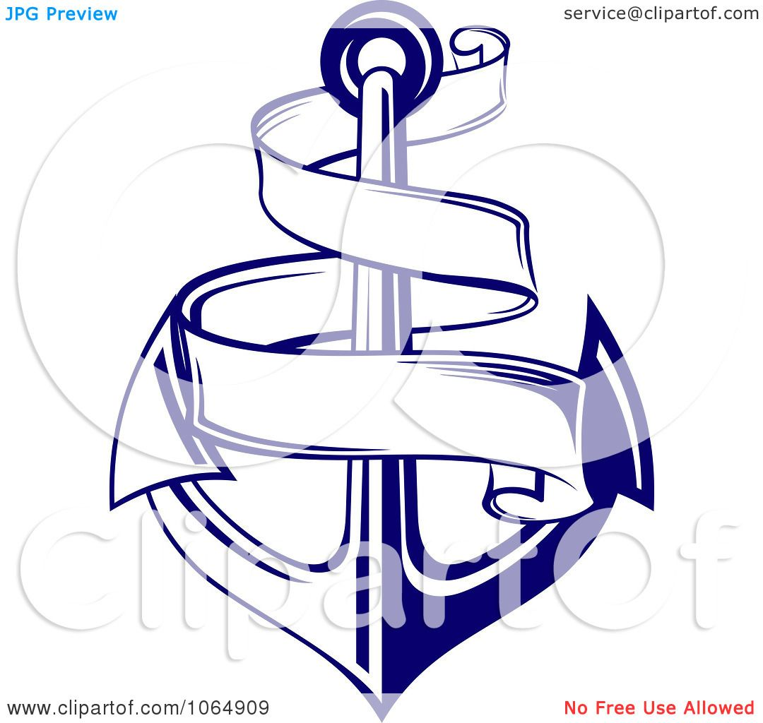 1080x1024 Clipart Blue Anchor And Banner