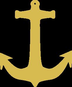 246x298 Gold Anchor Clip Art
