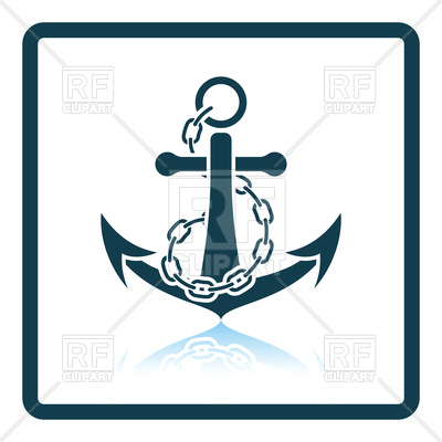 400x400 Icon Of Sea Anchor With Chain Royalty Free Vector Clip Art Image