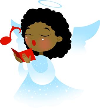 340x370 Angel Singing Clip Art