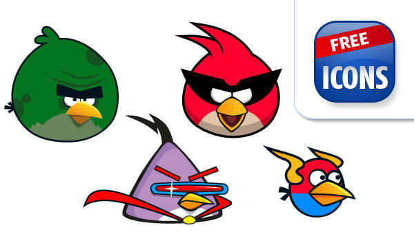 600x350 Free Angry Birds Vector Graphics 123freevectors