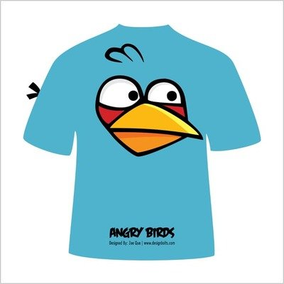 400x400 Free Blue Angry Bird T Shirt Clipart And Vector Graphics