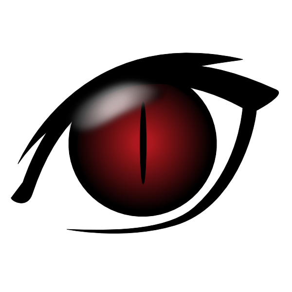 600x600 Red Eyes Clipart Transparent