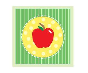 300x250 Free Apple Clipart Printables For Art Projects, Teachers,