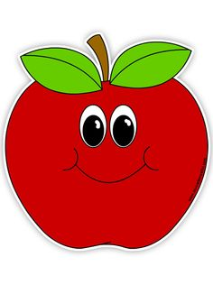 236x326 Smiling Apple Clipart
