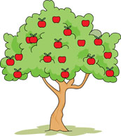 173x195 Clipart Apple Tree Free Trees Clipart Clip Art Pictures Graphics