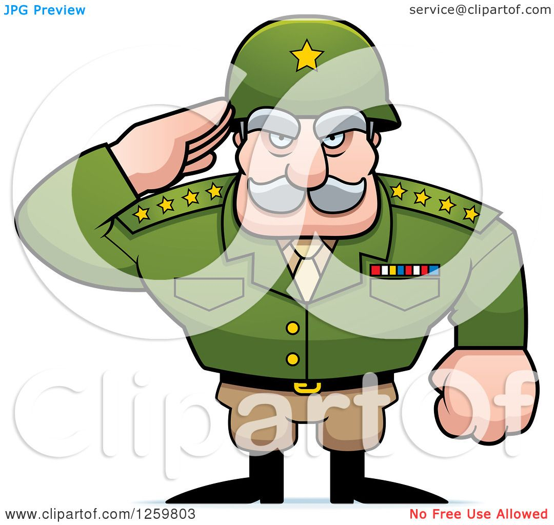 1080x1024 Clipart Of A Caucasian Army General Man Saluting