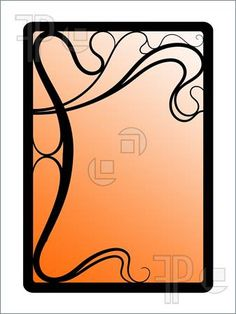 236x314 Beautiful Decorative Floral Frame, Art Nouveau Design Element