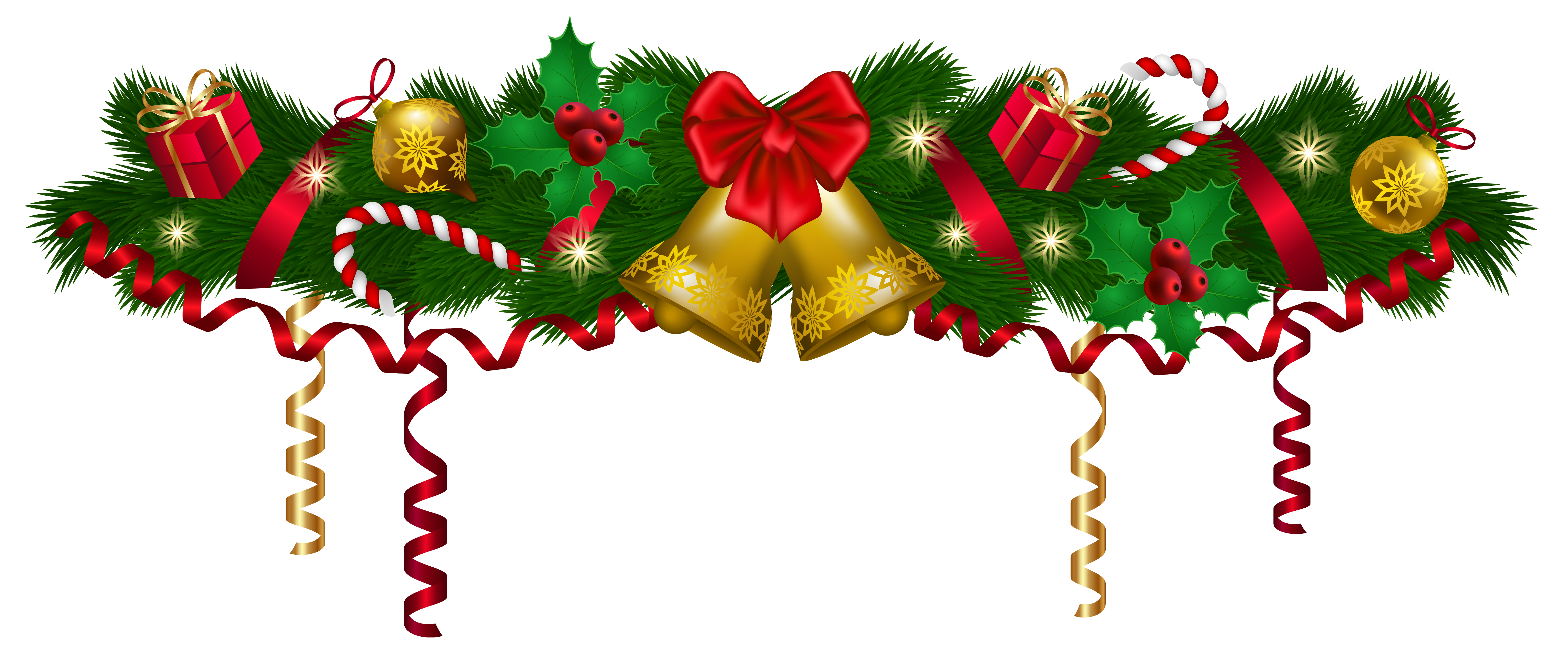 6193x2612 Christmas Deco Garland Png Clip Art Imageu200b Gallery Yopriceville