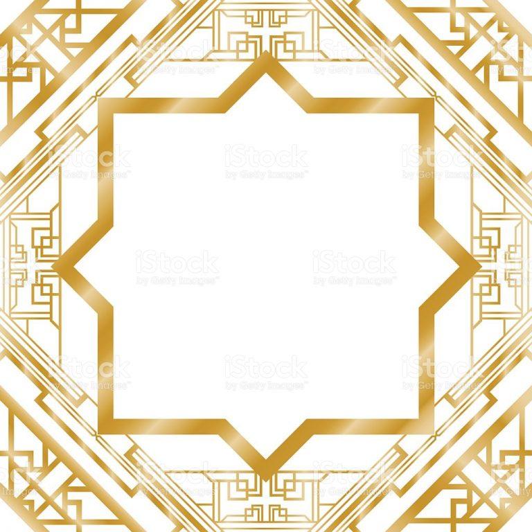 768x768 Art Deco Clip Art Border Free Gold Art Deco Border Frame Pattern