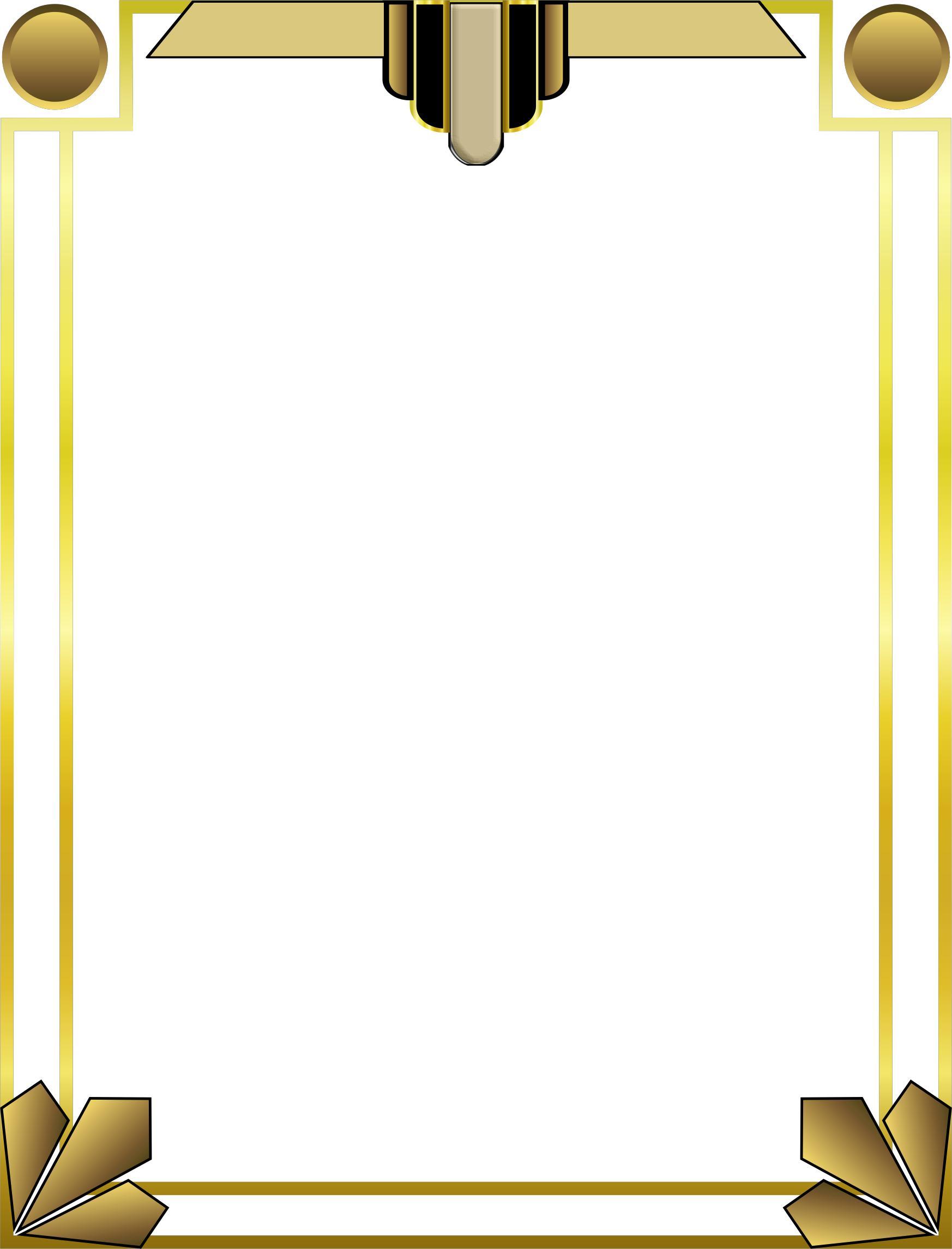 1746x2292 Art Deco Border 2 Icons Png