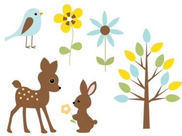 375x281 Baby Forest Animals Clip Art Free Woodland Animals Fall Baby