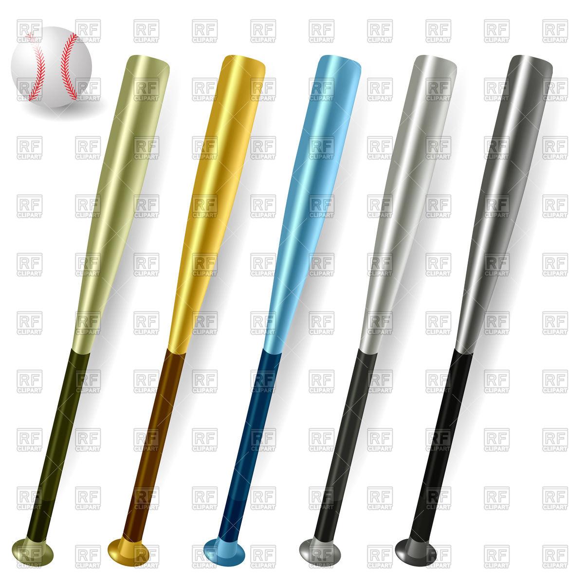 1200x1200 Baseball Bats And Ball Royalty Free Vector Clip Art Image