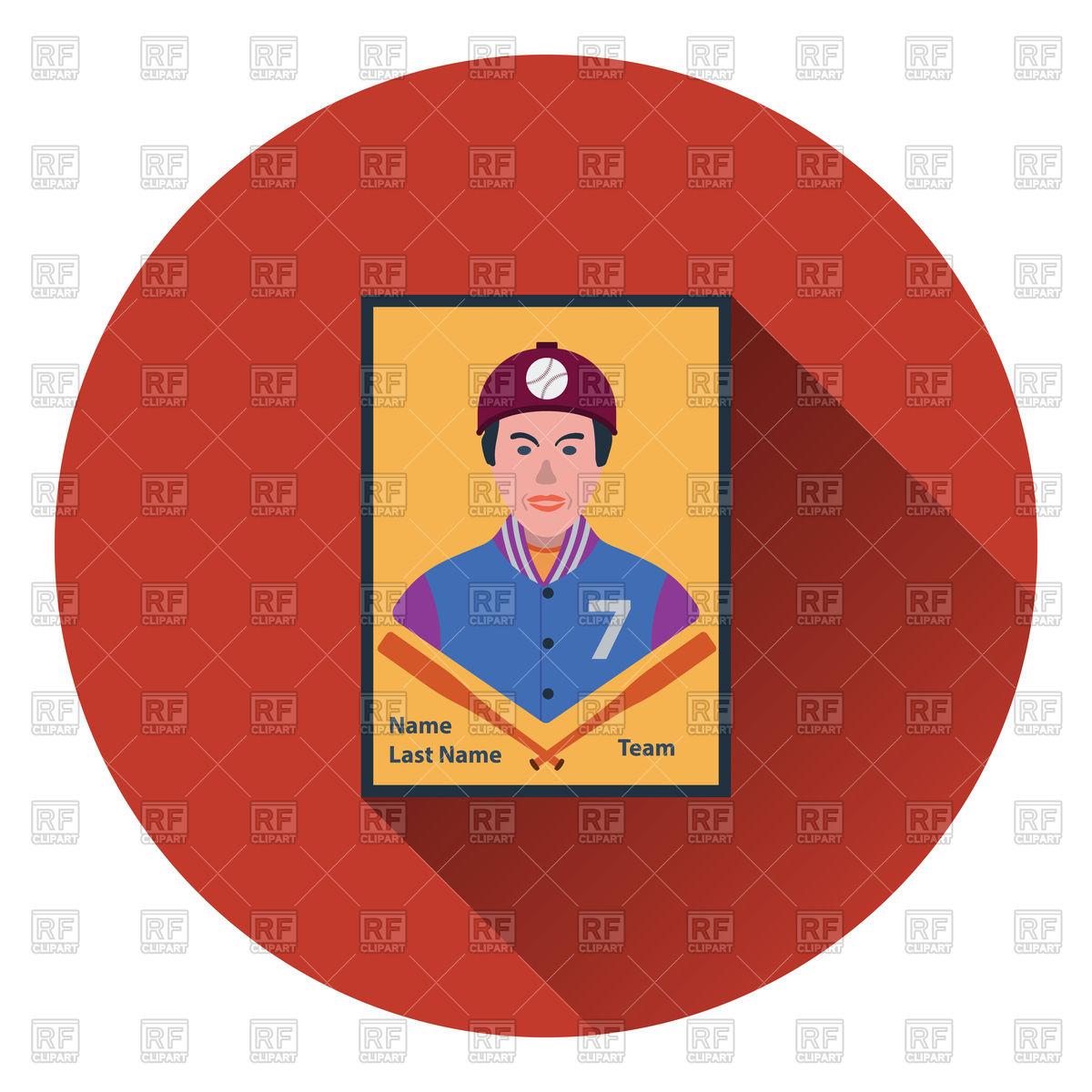 1200x1200 Baseball Card Icon Royalty Free Vector Clip Art Image