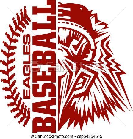 447x470 Eagles Baseball Vector