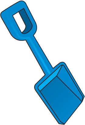 279x410 Beach Shovel Clipart