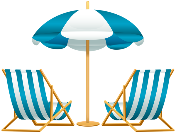 600x455 Beach Umbrella With Chairs Free Png Clip Art Image Swimming Pool