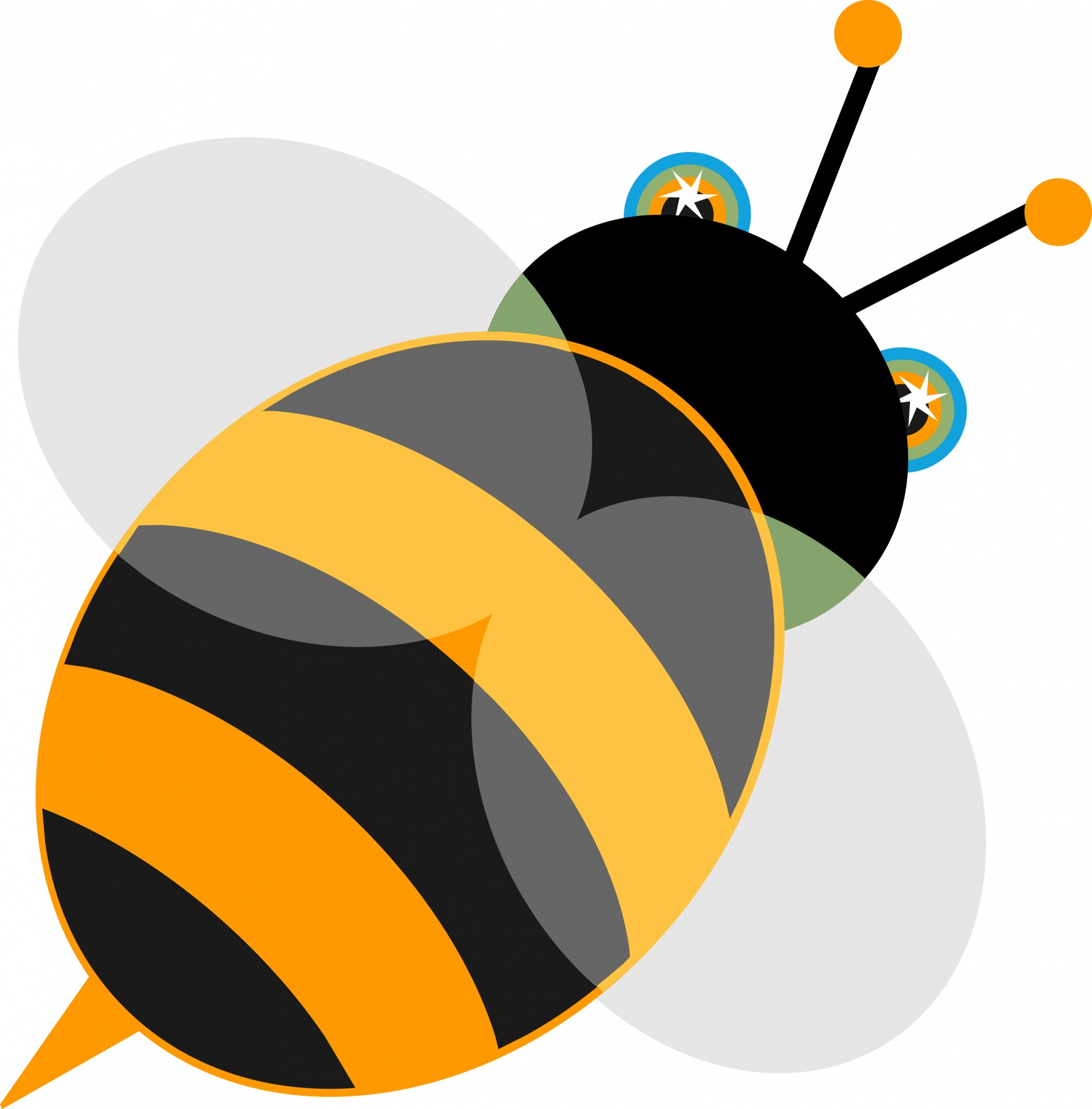1890x1920 Free Bee Clipart