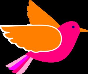 299x252 Pink Birds Clip Art
