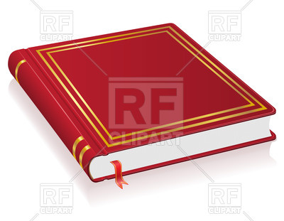 400x311 Closed Red Book With Bookmark Royalty Free Vector Clip Art Image