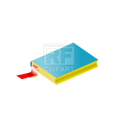 400x400 Book With Bookmark Free Download Vector Clip Art Image