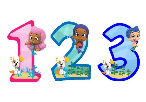 500x350 Bubble Guppies Edible Fondant Number Trish Gayle