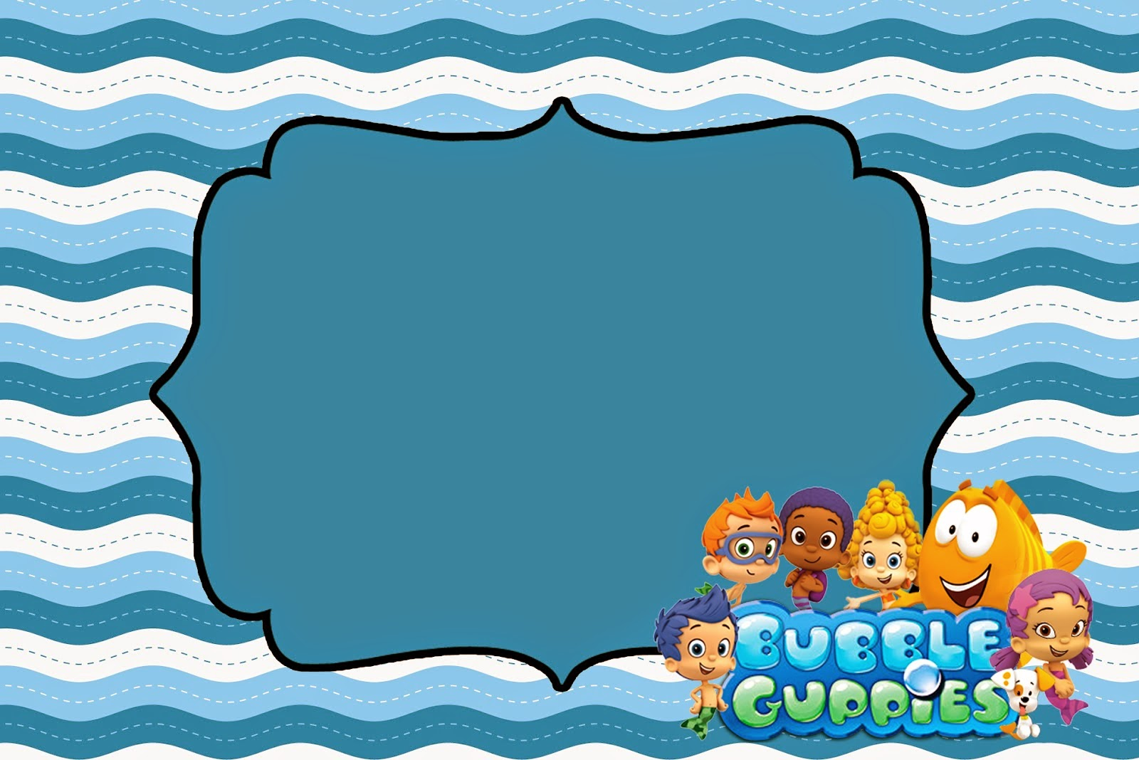 1600x1068 Bubble Guppies Free Printable Invitations. Oh My Fiesta! In English