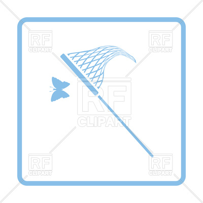 400x400 Butterfly Net Icon Royalty Free Vector Clip Art Image