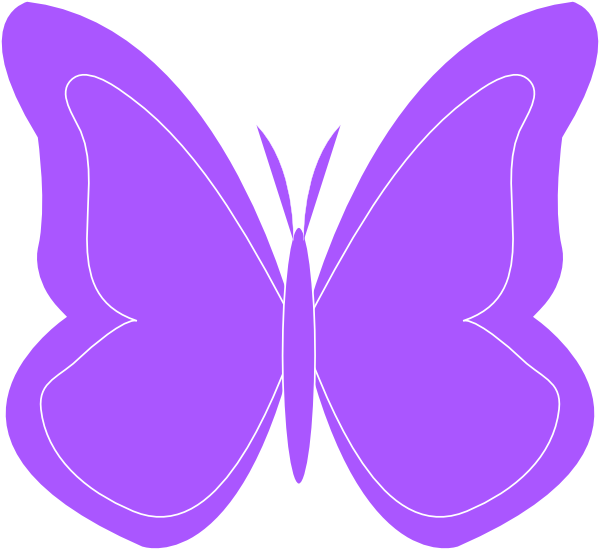 600x550 Purple Butterfly Cliparts Free Download Clip Art