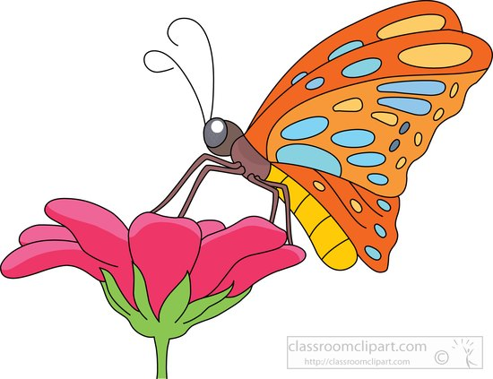 550x423 Collection Of Flower And Butterfly Clipart High Quality