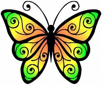 354x294 Spring Clip Art Butterfly Craft Get Ideas